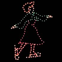 7 1/2' Victorian Woman Skater, LED