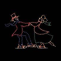 8' Victorian Man and Woman Skating, LED