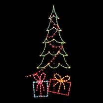 14' Carolina Pine w/Packages and Light String, LED