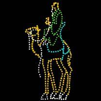 13' Wiseman on Camel, LED