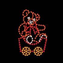 7' Silhouette Teddy Bear Car, LED