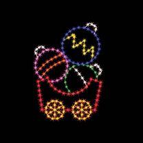 6' Silhouette Ornament Car, LED