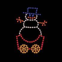 7' Silhouette Snowman Car, LED