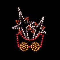 7' Silhouette Stars Car, LED