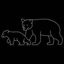 5' x 12' Two Bears Walking, LED