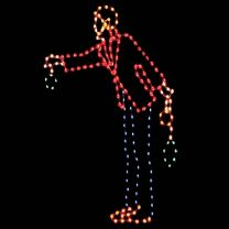 8' Victorian Man Tree Trimmer, LED