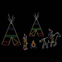 19' x 30' Native American Scene, LED