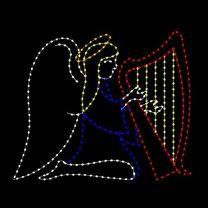 8' Angel Playing Harp