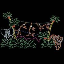 26' x 45' Animated Monkey Jungle, LED