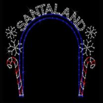 13' x 12' Santa Land Arch, LED