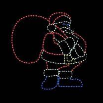 10' Santa with Gift Bag, LED