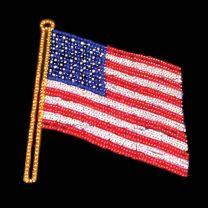 13' x 11' USA Flag, LED