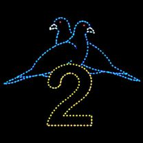 Animated 10' x 12' Two Turtle Doves, LED