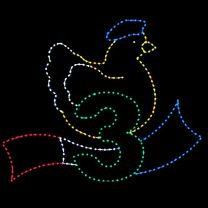 10' x 13' Three French Hens, LED