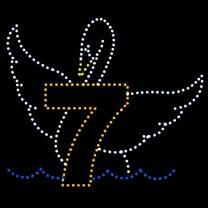 10' x 11 1/2' Seven Swans Swimming, LED