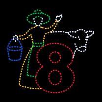 Animated 10' x 11' Eight Maids Milking, LED