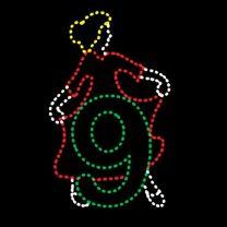 Animated 10' x 7' Nine Ladies Dancing, LED