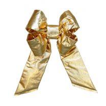 "12"" Gold Mylar Christmas Bow"