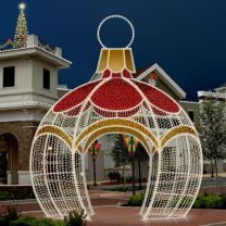 16' 3D LED Round Ornament Icon Walk Through