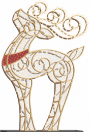 8' LED Reindeer Icon - Warm White