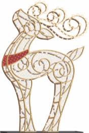 6' LED Reindeer Icon - Warm White