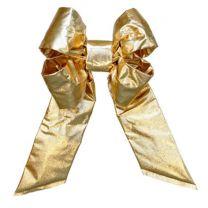 "24"" Gold Mylar Christmas Bow"
