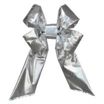 "36"" Silver Mylar Christmas Bow"