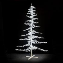 12' Ice Sculpture Christmas Tree - Pure White