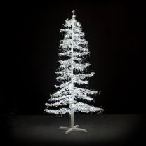 7' Ice Sculpture Christmas Tree - Pure White