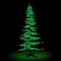 7' Ice Sculpture Christmas Tree - Green