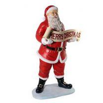 5' Santa with Christmas Banner