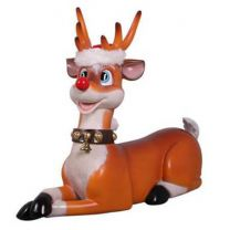 2.75' Funny Reindeer Lying Down