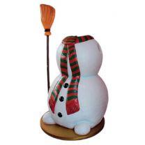6' Snowman w/Broom Photo Op