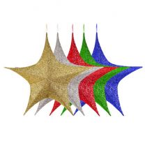 """Foldable 3D Star - 60"""" - Polymesh - 5 Colors Available"""