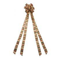 """11"""" Plaid Tree Topper Bow"""