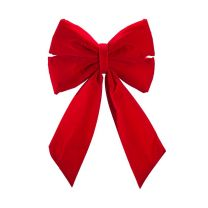 """12"""" Red Velvet Christmas Bow"""