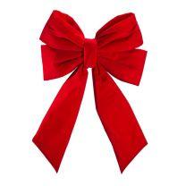 """18"""" Red Velvet Christmas Bow"""