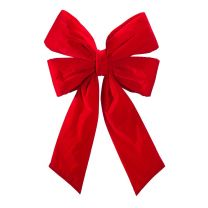 """24"""" Red Velvet Christmas Bow"""