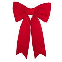 "36"" Red Velvet Christmas Bow - Two Loop"