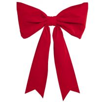 "48"" Red Velvet Christmas Bow - Two Loop"