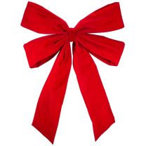 """48"""" Red Velvet Christmas Bow"""