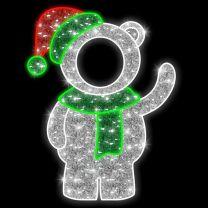 5' 2D LED Baby Bear - Photo Op Display