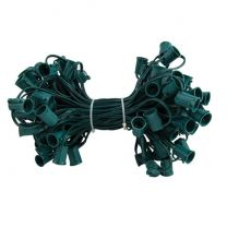 """C9 Cord, 6"""" Spacing, Green Wire, SPT-1, 100'"""
