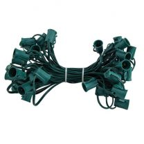 """C9 Cord, 12"""" Spacing, Green Wire, SPT-1, 50'"""