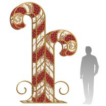 11' 3D LED Candy Cane - Red & Warm White