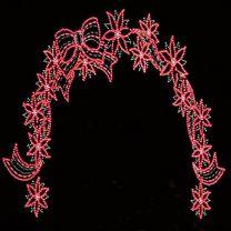 poinsettia christmas arch lights