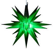 green moravian star tree topper