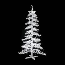 9' Ice Sculpture Christmas Tree - Pure White
