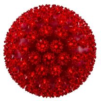 """Pro Christmas™ 10"""" Sphere - 150L - Red"""