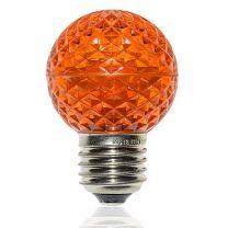 G50 LED Retrofit Bulb - Amber/Orange - E26 Base - Minleon - Bag of 10